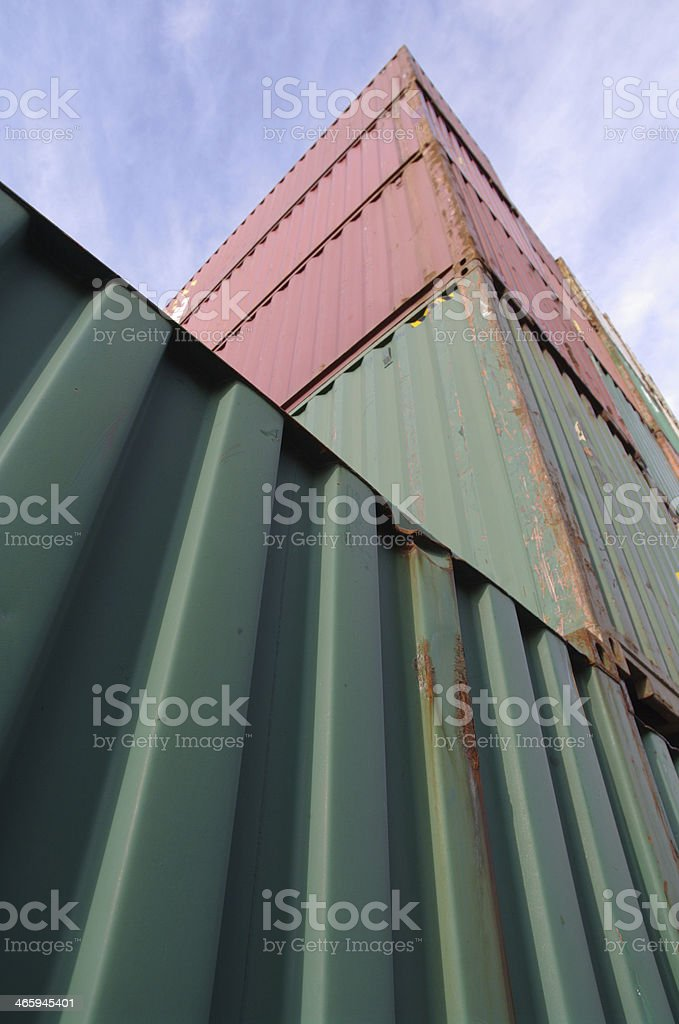 Container transport stock photo