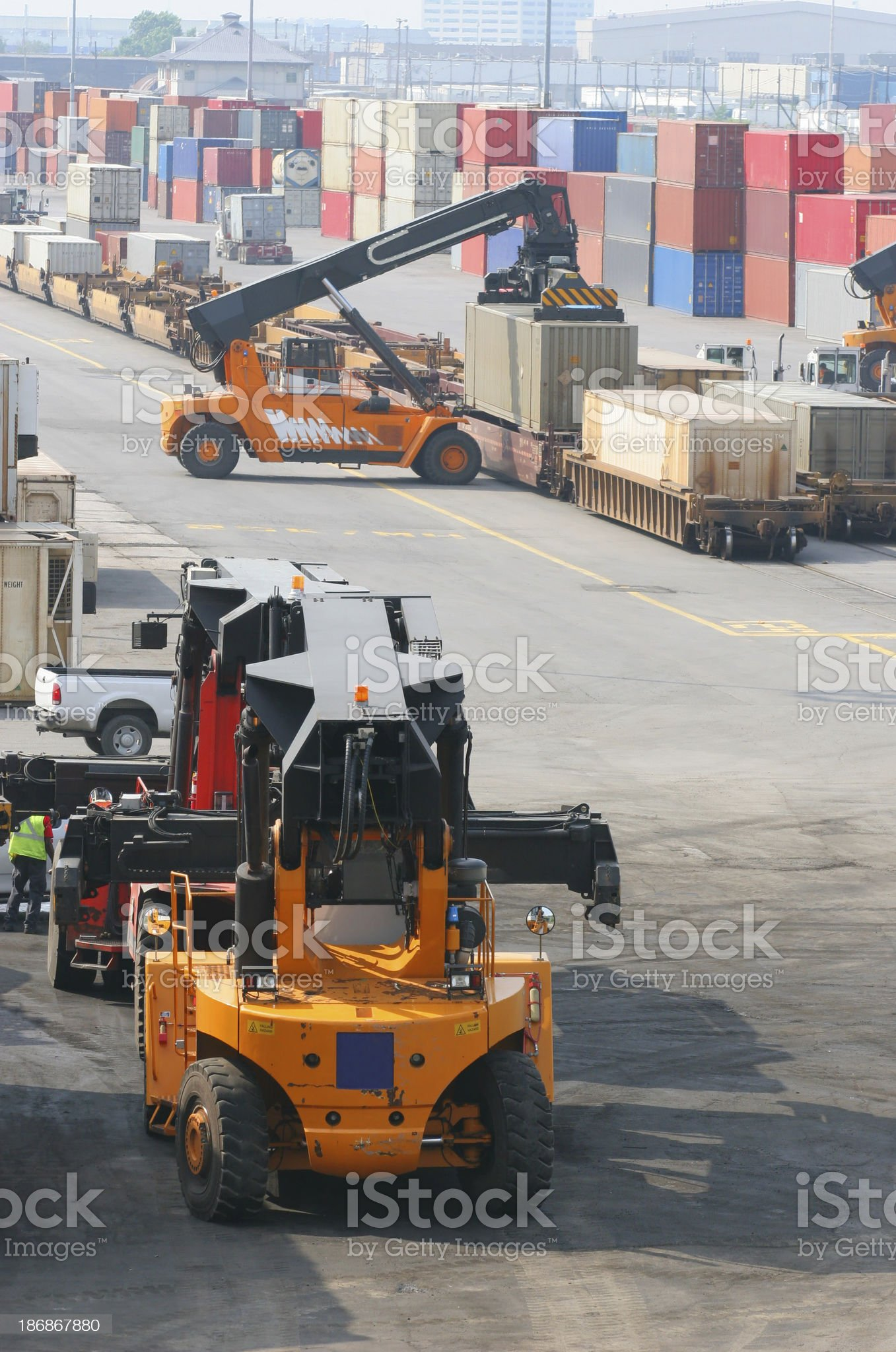 Container Transporters royalty-free stock photo