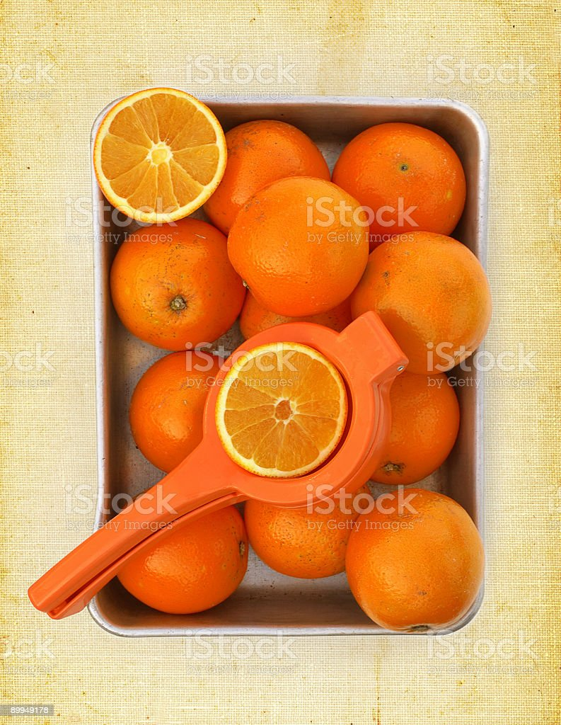 container with oranges royalty-free stock photo