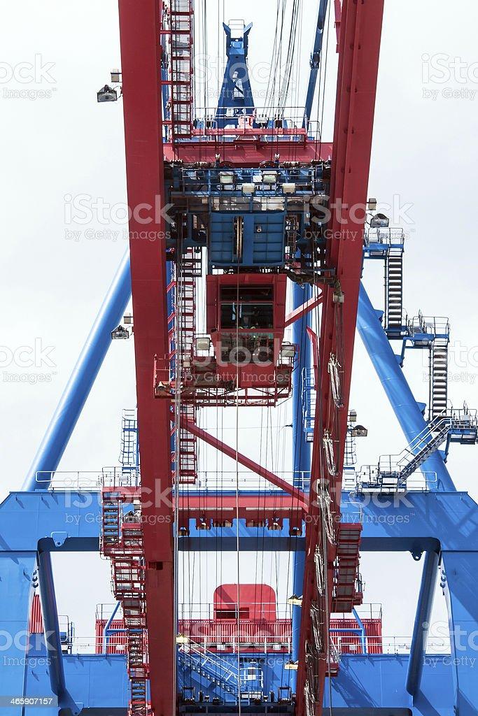 Containerbridge Hamburg harbour stock photo
