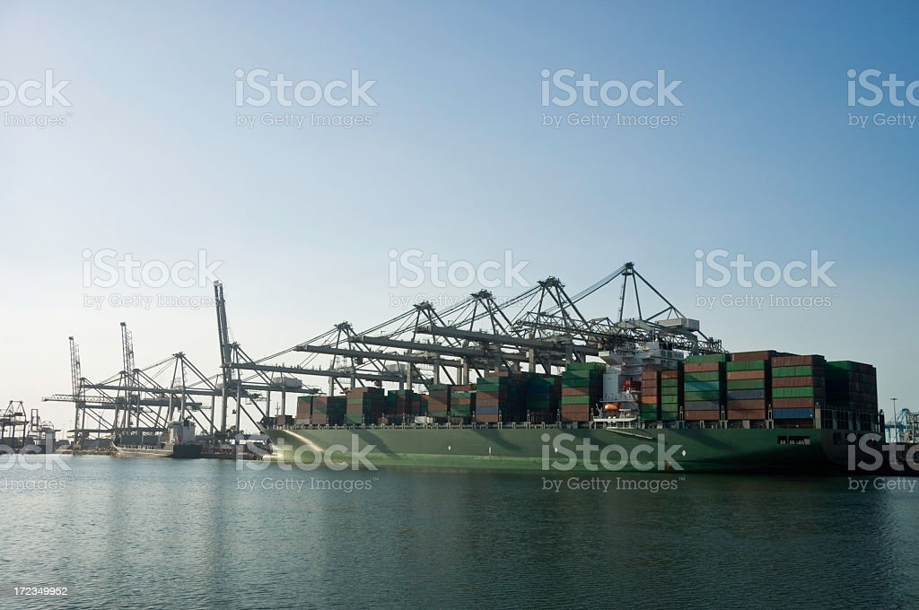Containers and Cranes royalty-free stock photo