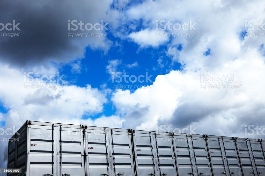 Containers and sky stock photo