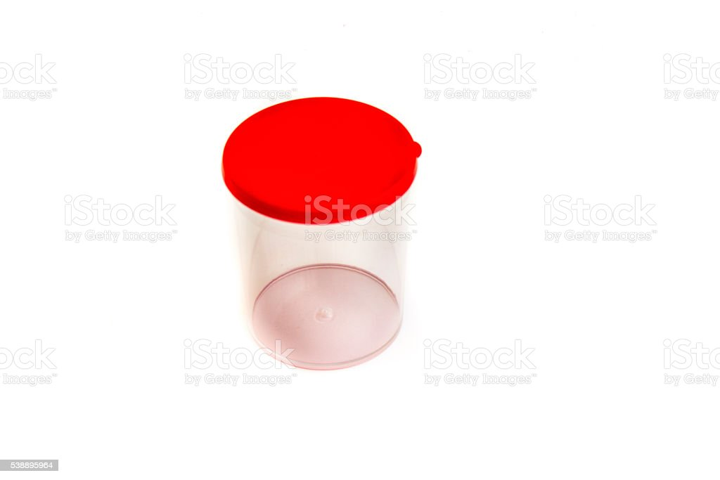 Containers for general clinical analysis of urine stock photo