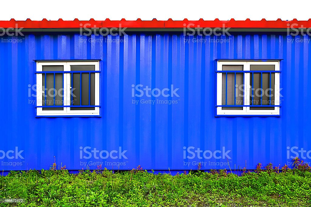 Containers House,description of Isolated stock photo