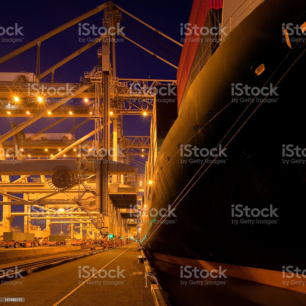 Containers in a port terminal royalty-free stock photo