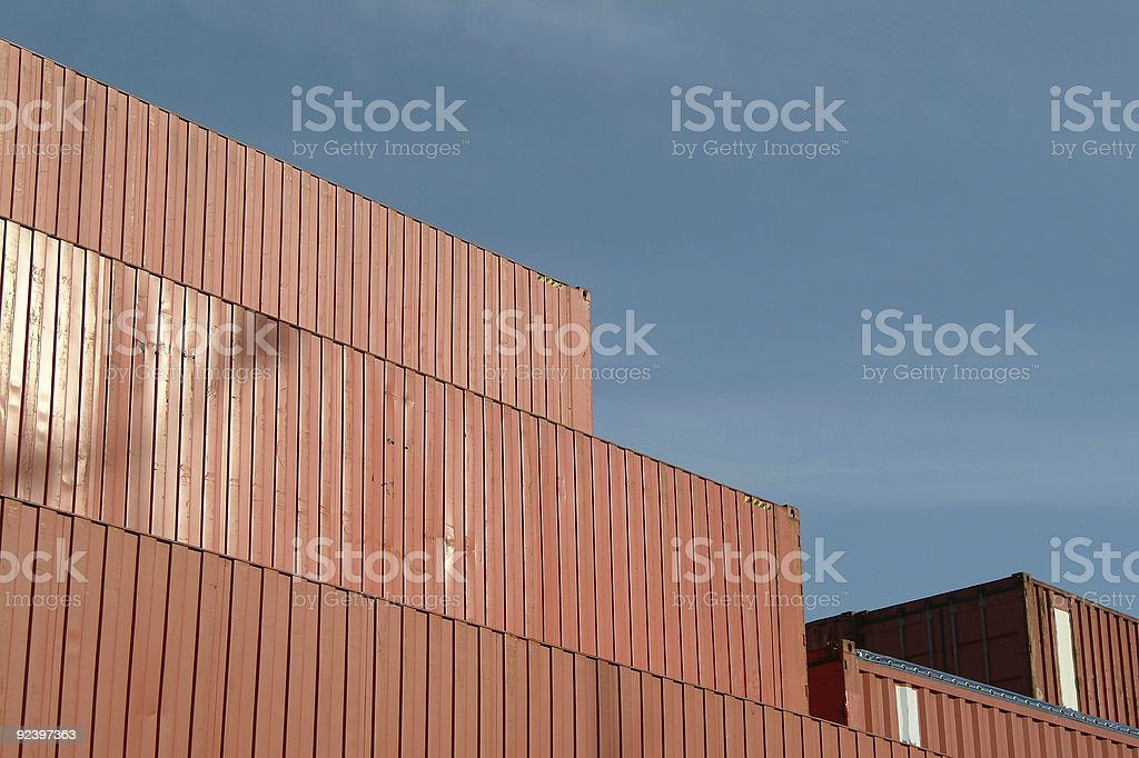 Containers in harbor royalty-free stock photo