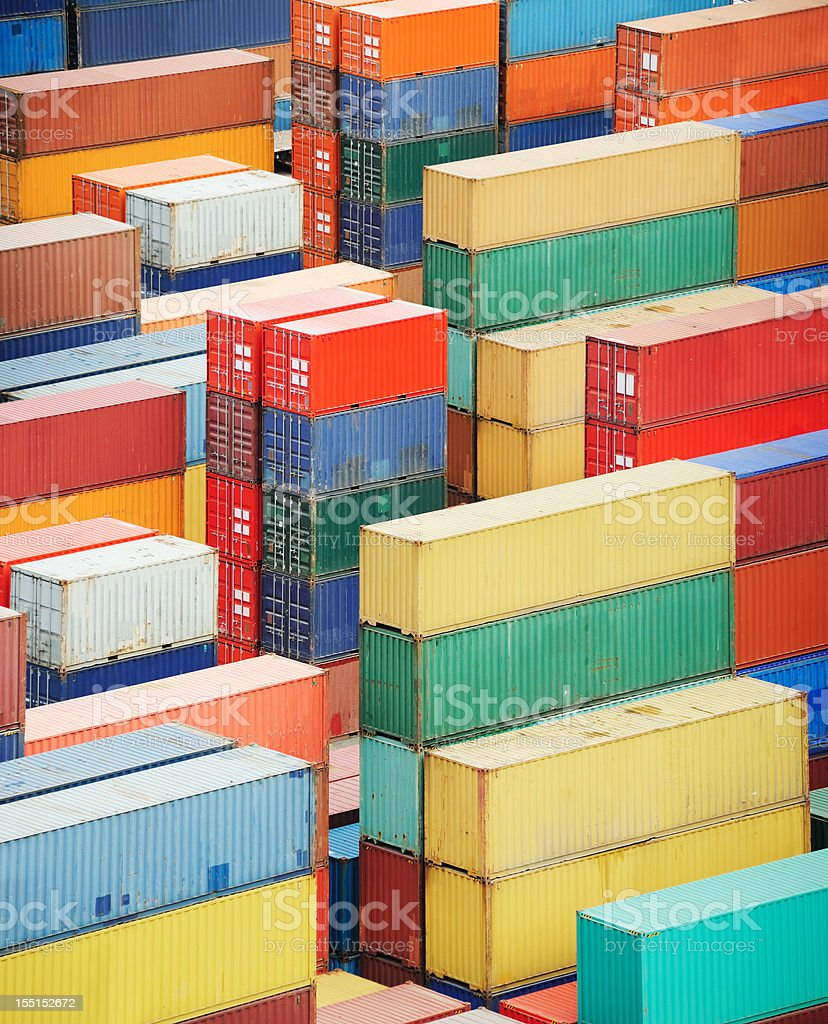 Containers ready for shipping royalty-free stock photo