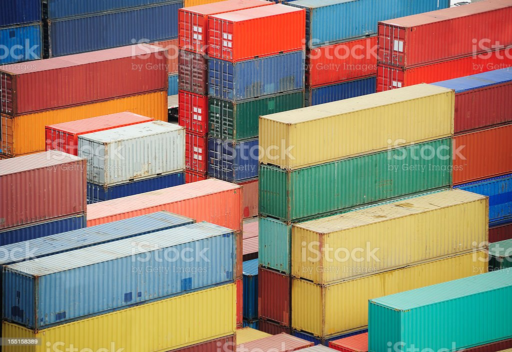 Containers ready for shipping stock photo