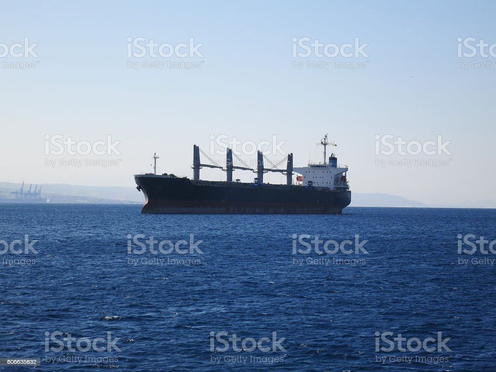 Containers ship cargo in Red sea stock photo