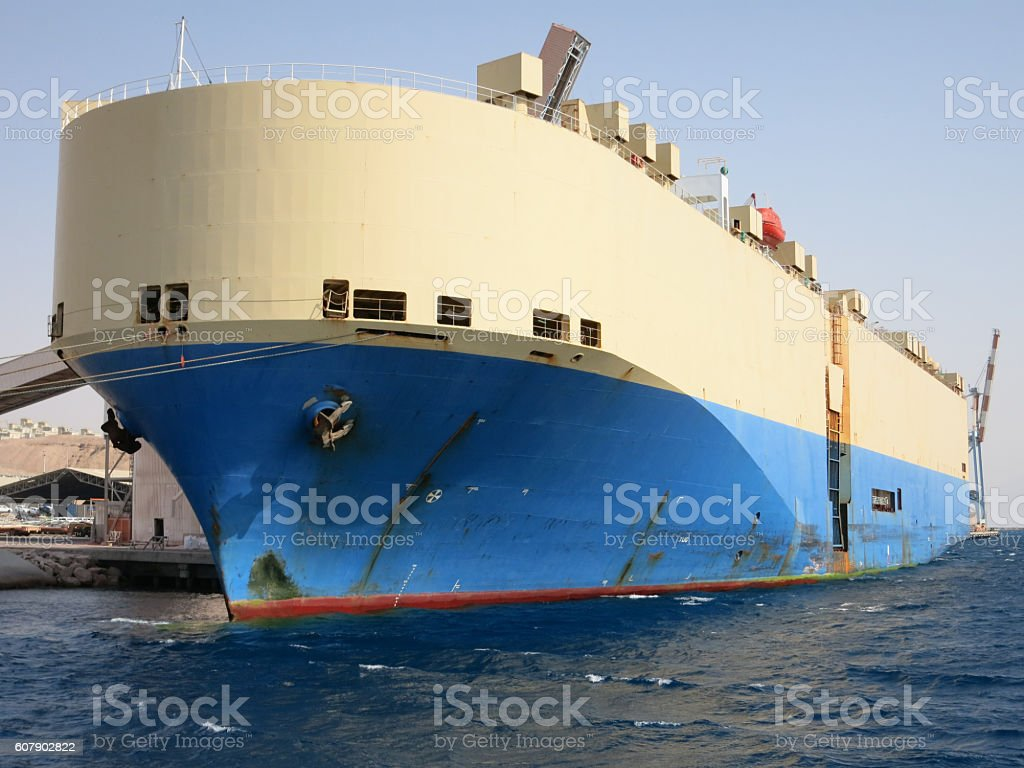 Containers ship cargo port freight crane stock photo