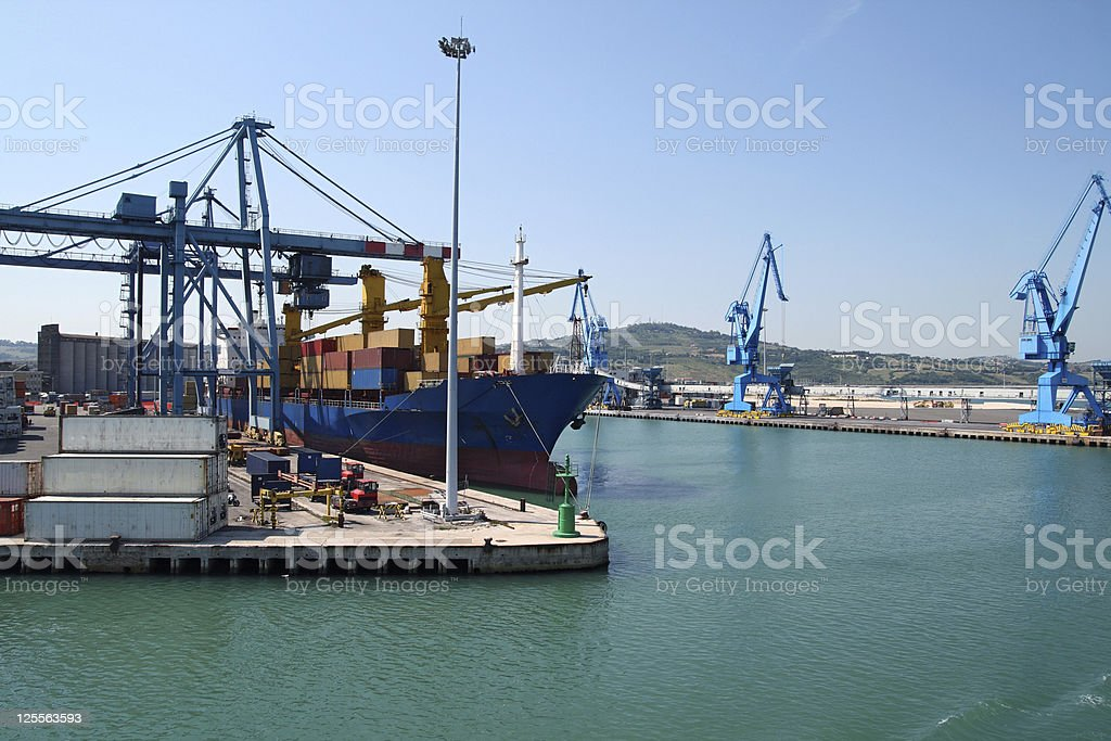 Containers ship royalty-free stock photo