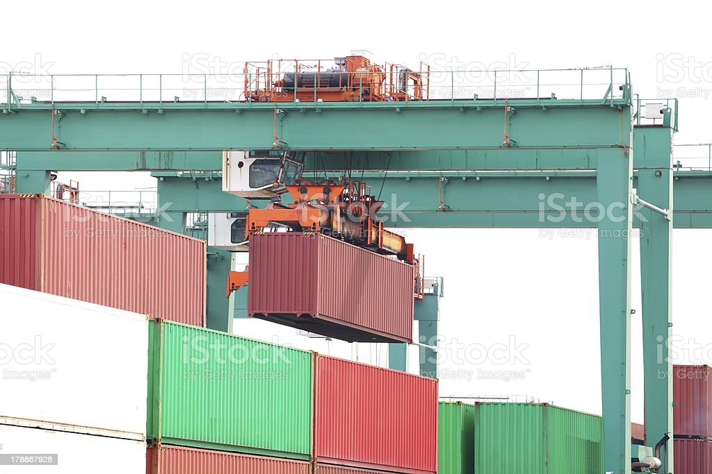 Containers shipping royalty-free stock photo