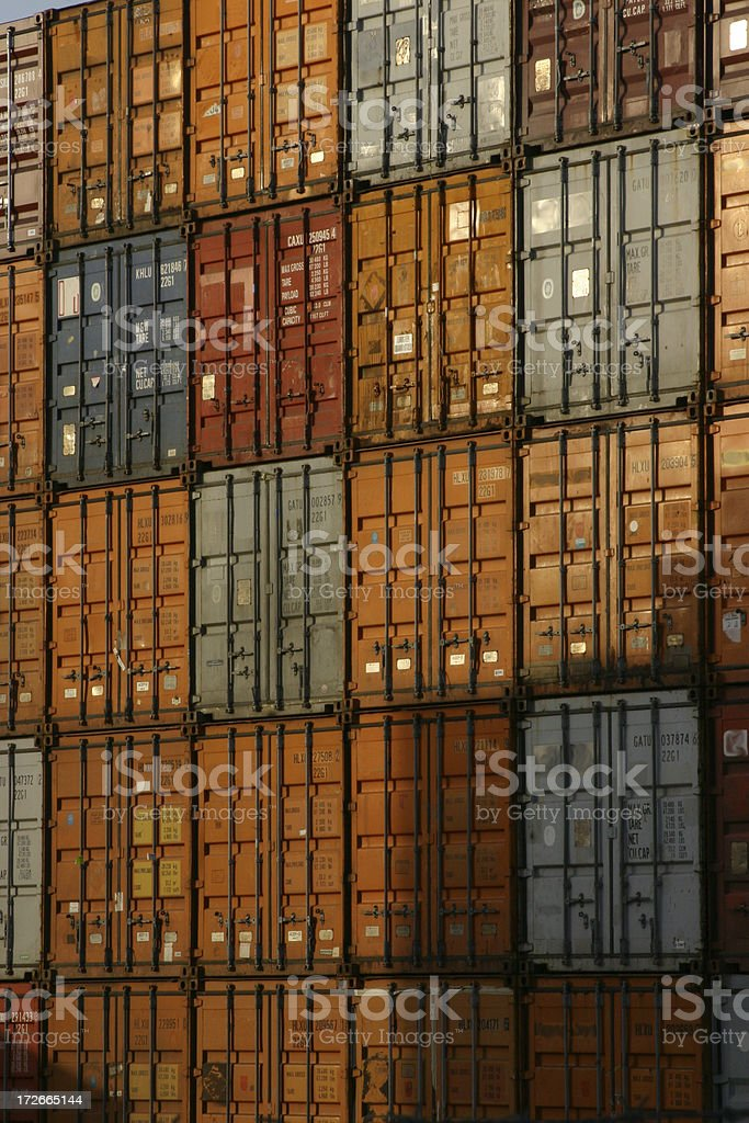 Containers Vertical royalty-free stock photo