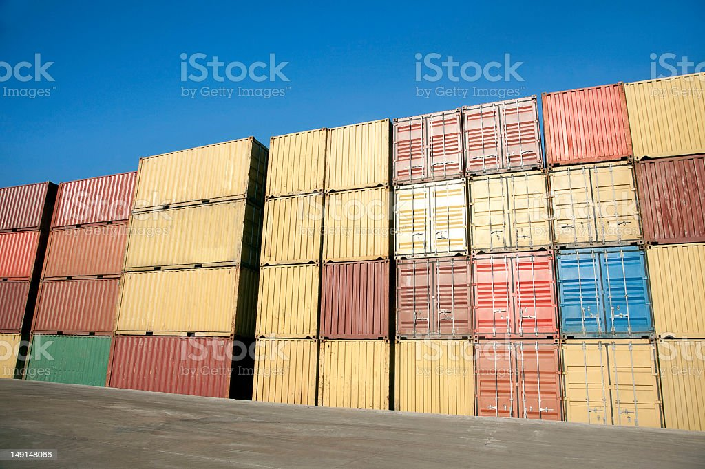 Containers Waiting royalty-free stock photo