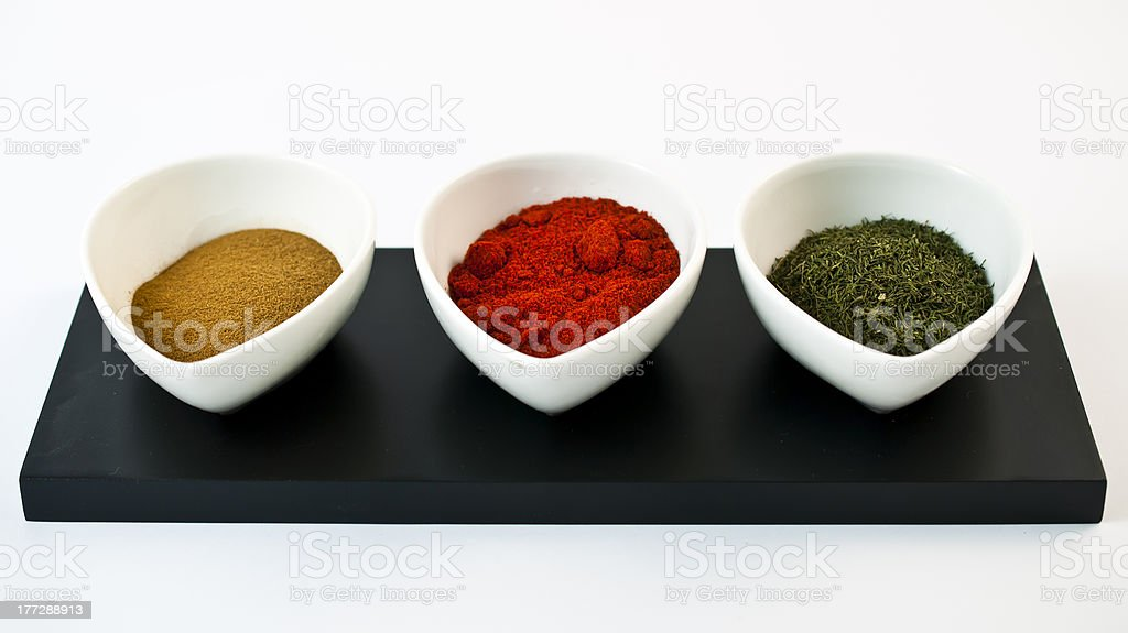 Containers with spices royalty-free stock photo