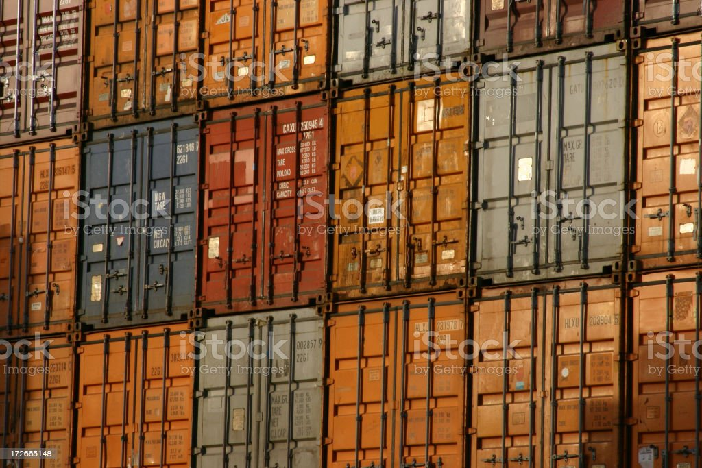 Containers-Horizontal royalty-free stock photo