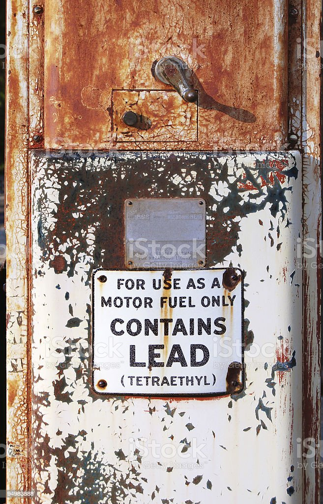 Contains lead stock photo