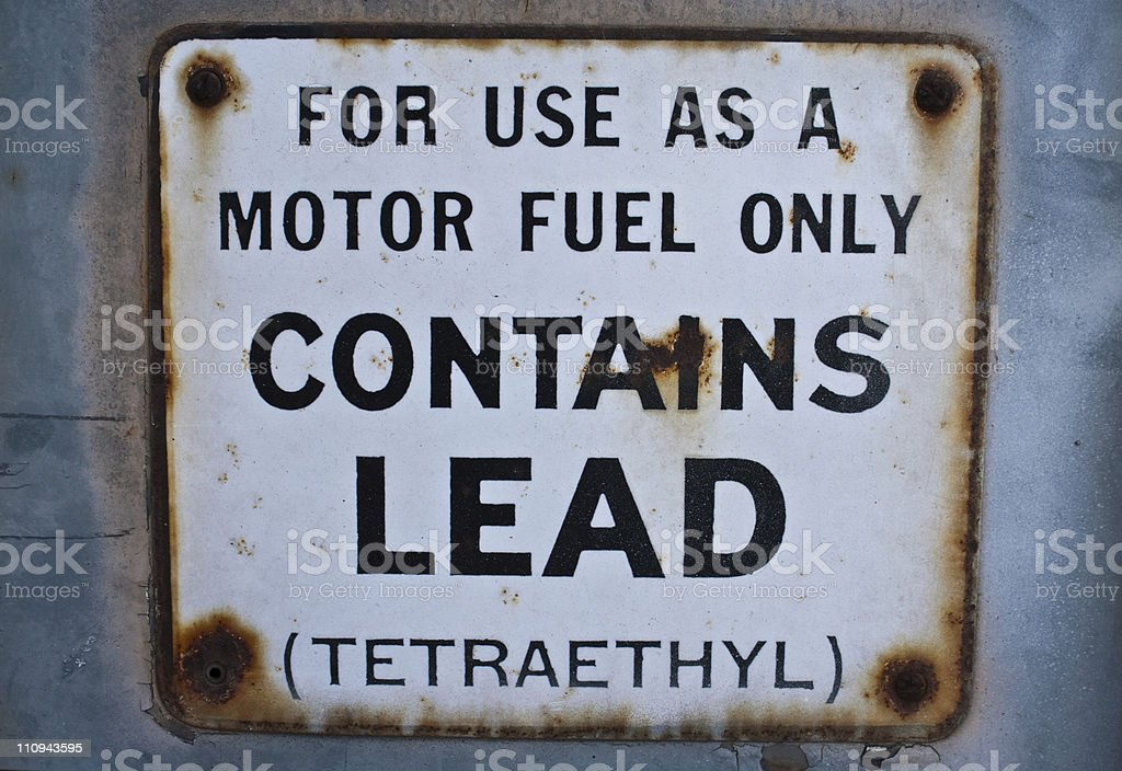 Contains Lead Sign royalty-free stock photo