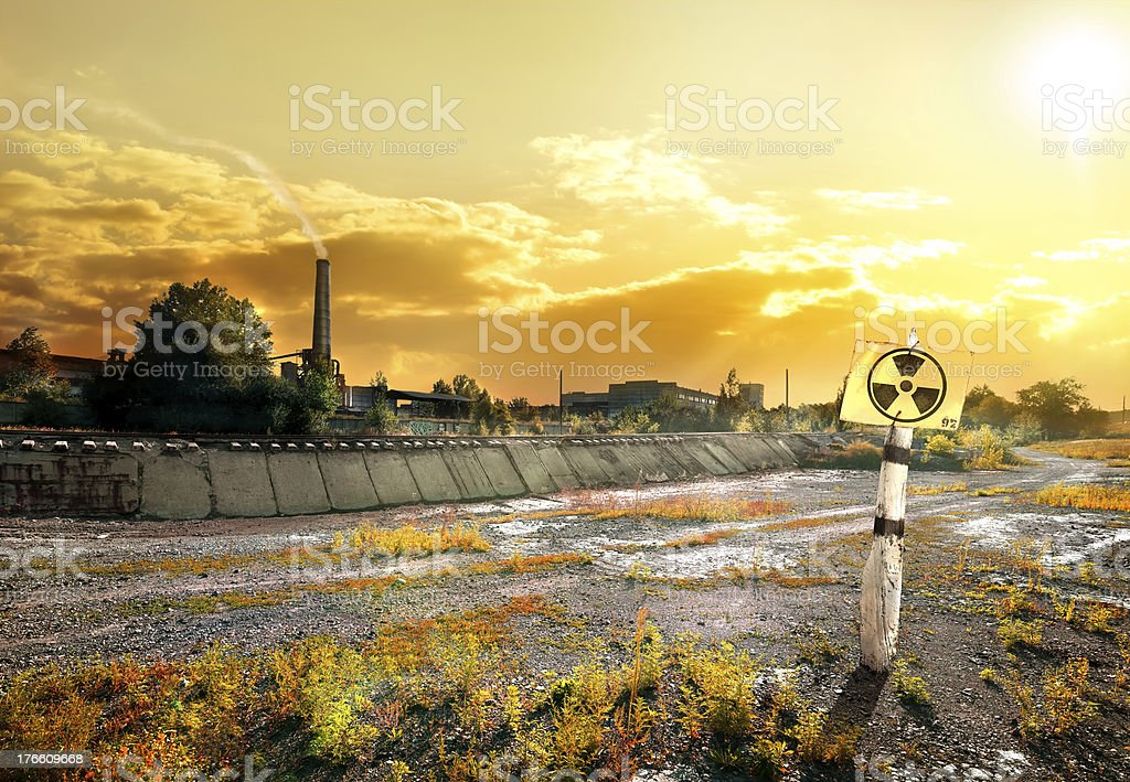 Contaminated area royalty-free stock photo