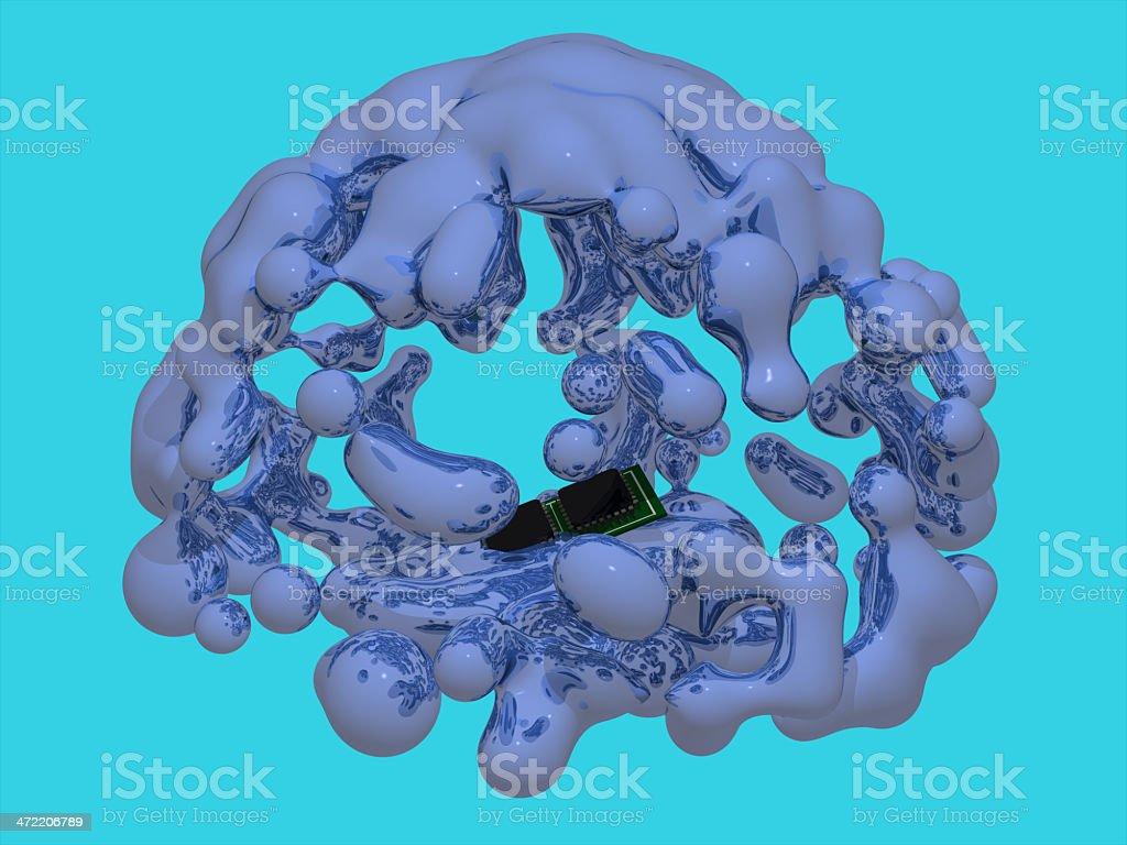 contaminated microchip stock photo