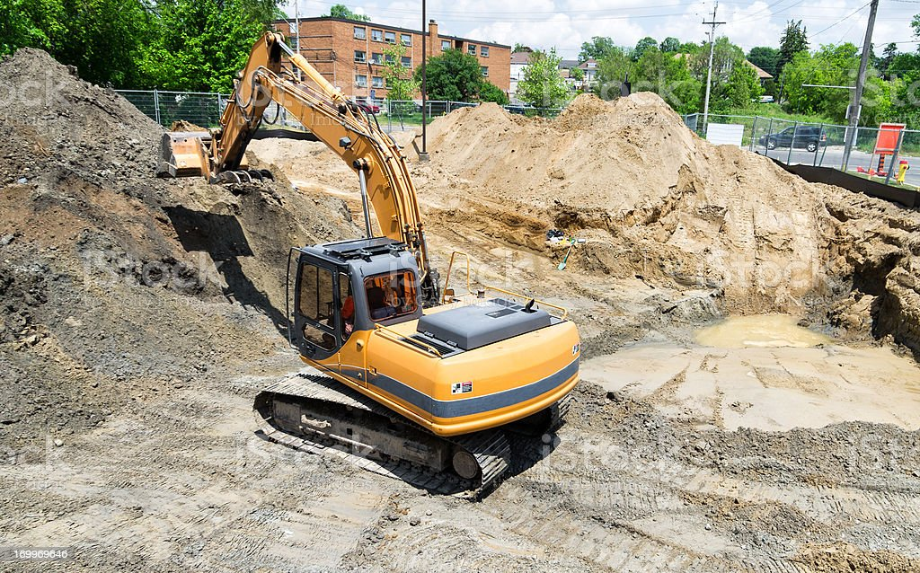 Contaminated Soil Remediation royalty-free stock photo