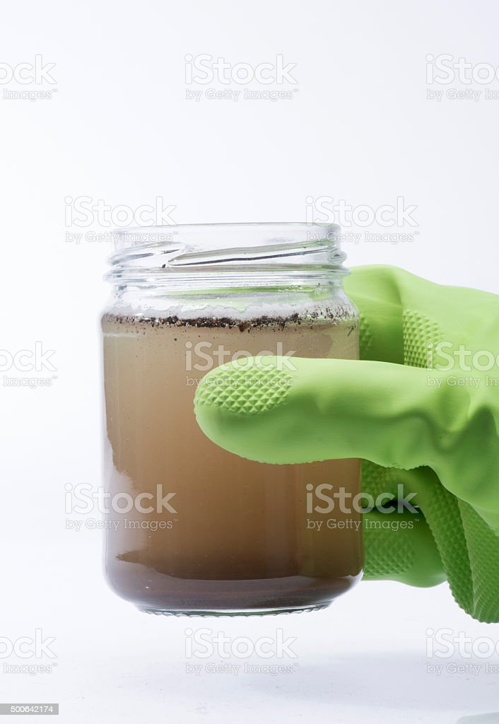 Contaminated water stock photo