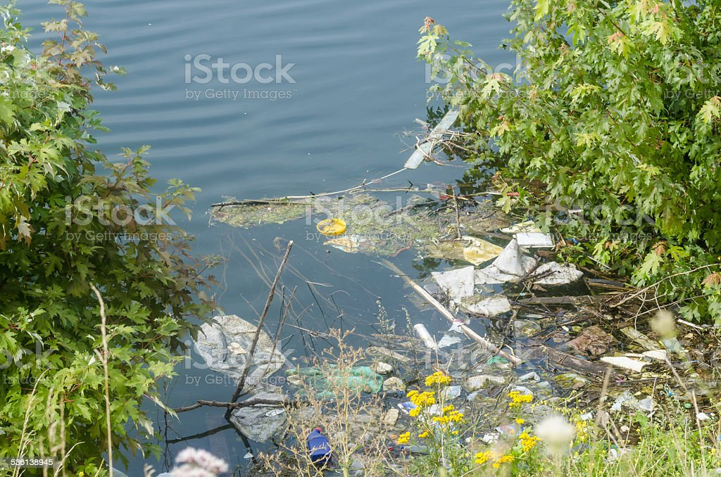 Contaminated waters stock photo