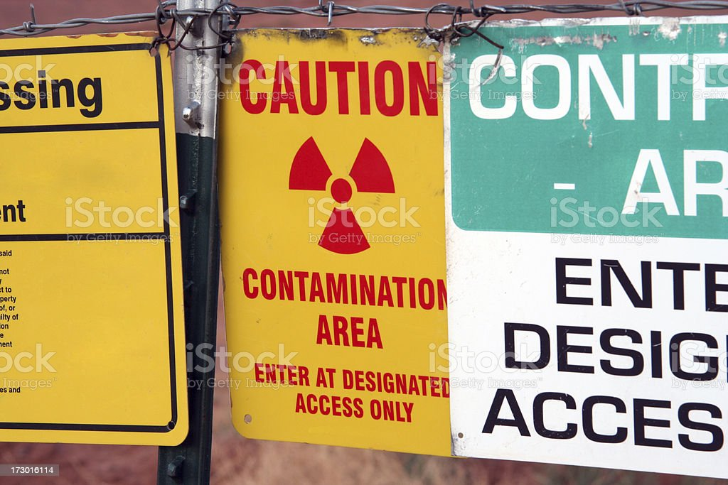 Contamination Area stock photo