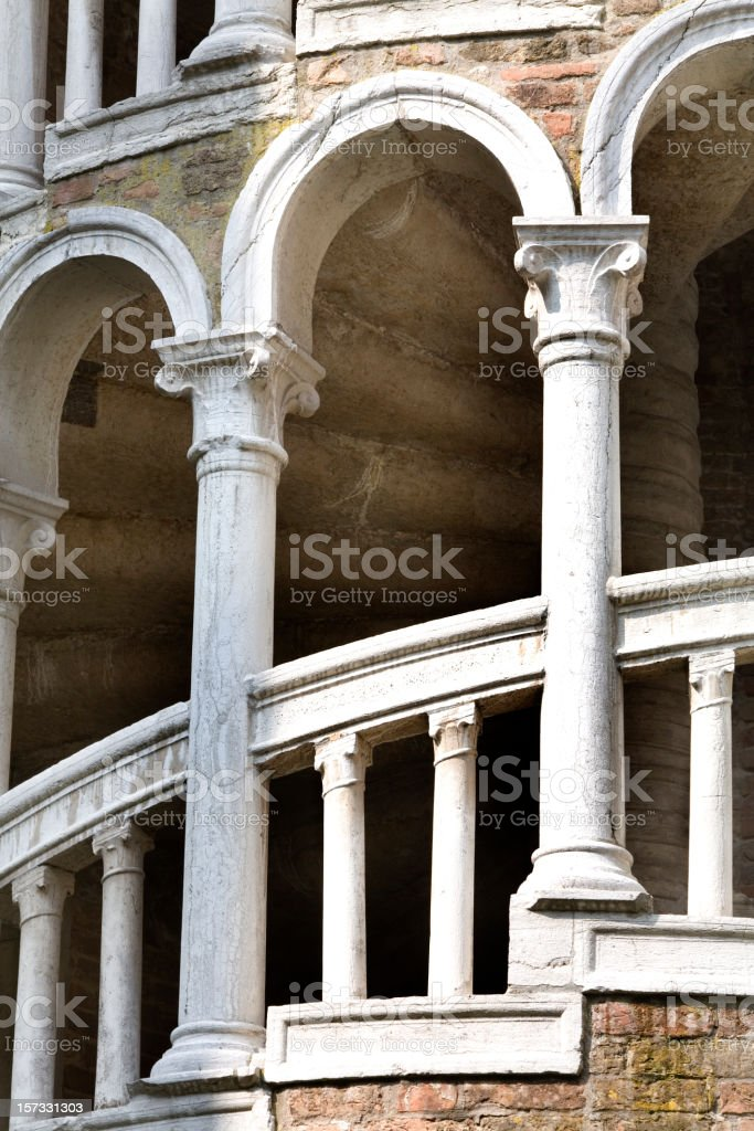 Contarini del Bovolo Venice Italy royalty-free stock photo