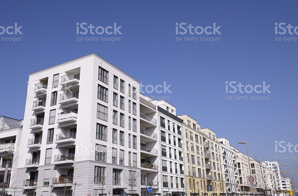 Contemorary apartment blocks royalty-free stock photo
