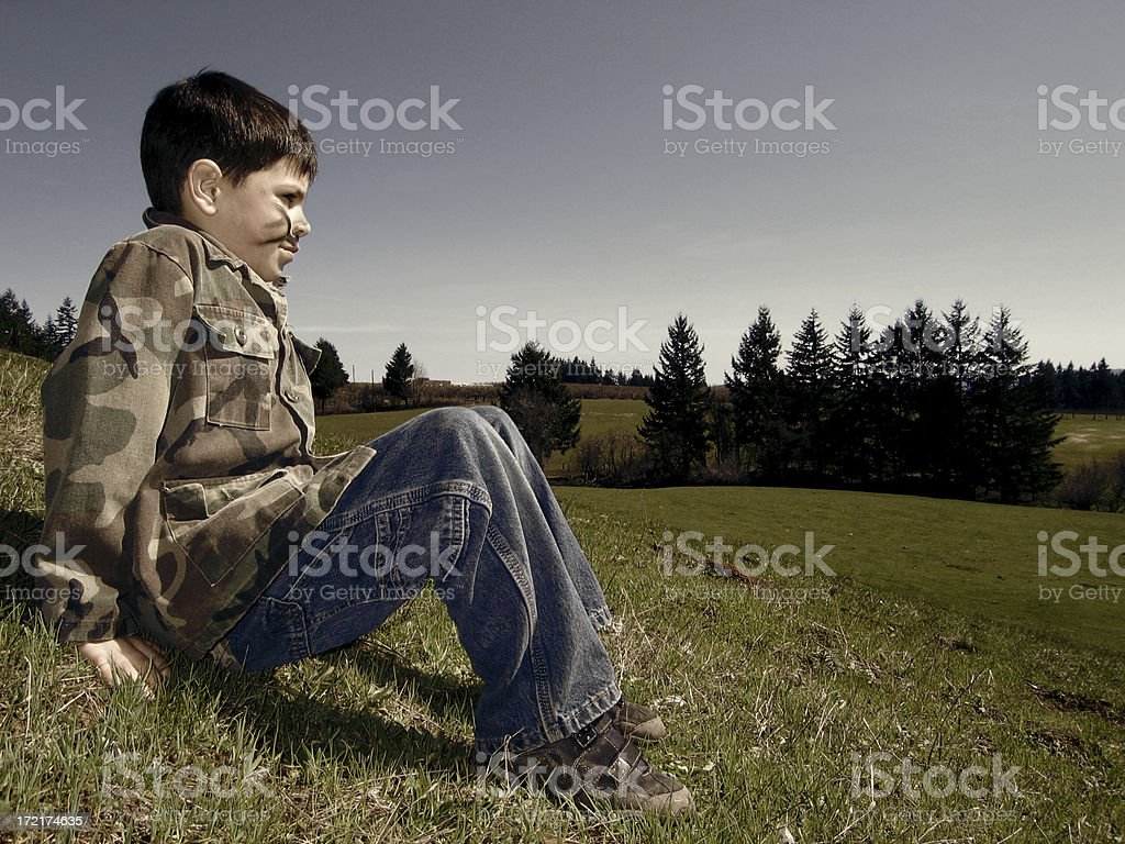 Contemplate the War royalty-free stock photo