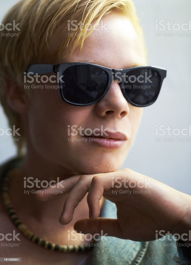 Contemplating cool royalty-free stock photo