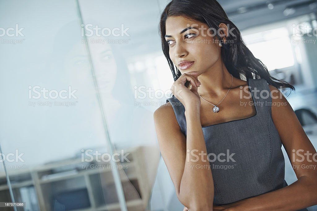 Contemplating corporate ideas royalty-free stock photo
