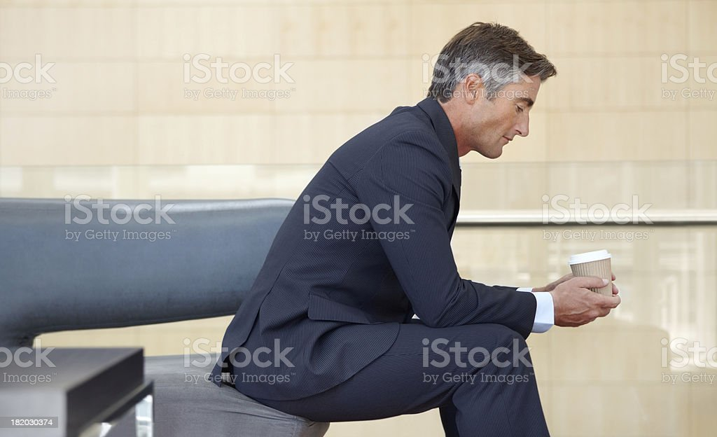 Contemplating his next interview royalty-free stock photo