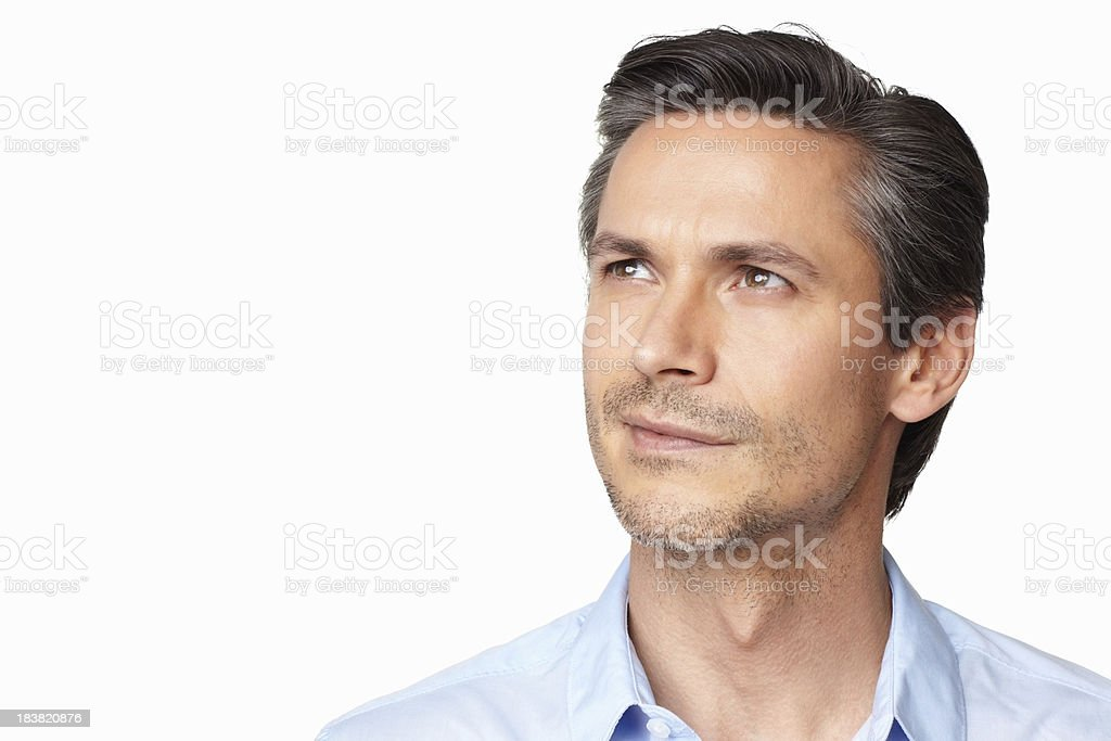 Contemplating over ideas royalty-free stock photo