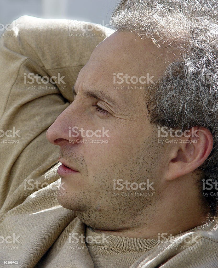 Contemplating royalty-free stock photo