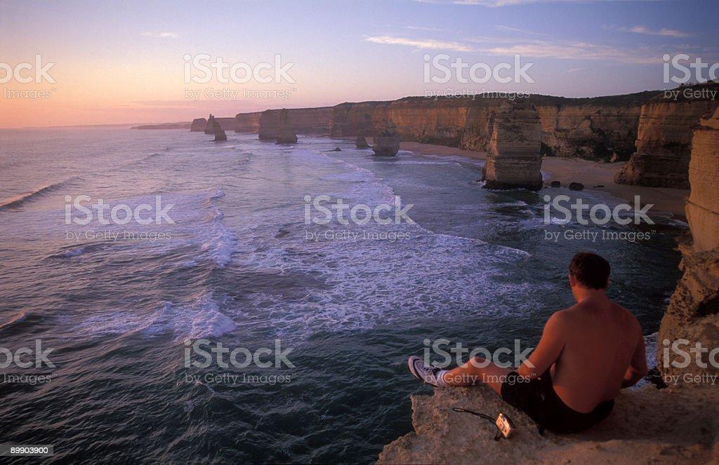 Contemplating the Apostles royalty-free stock photo