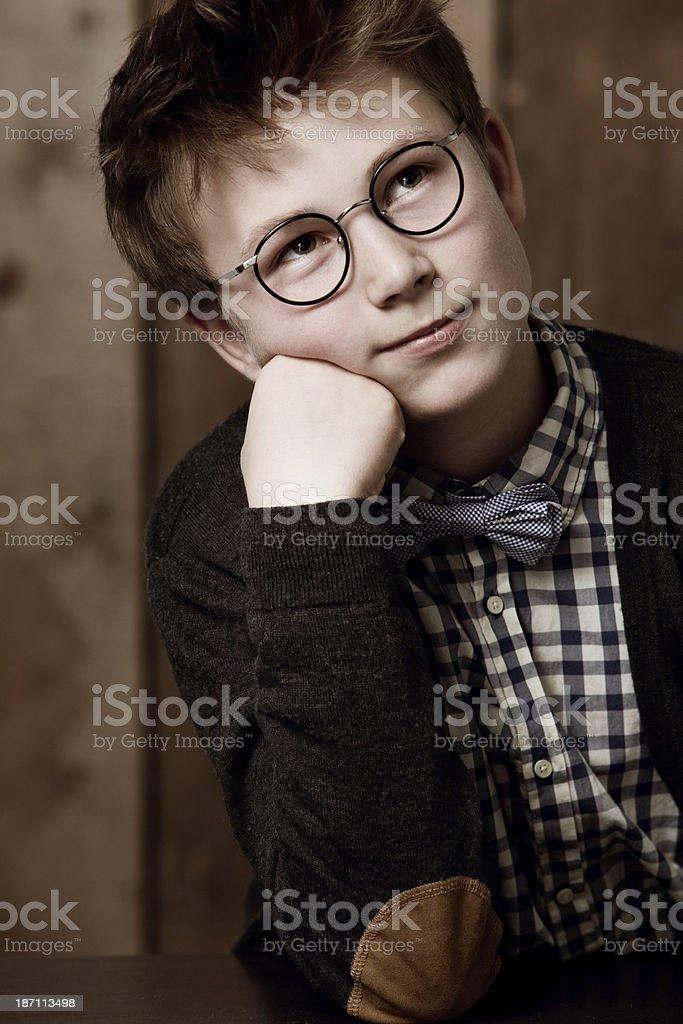 Contemplating the future stock photo