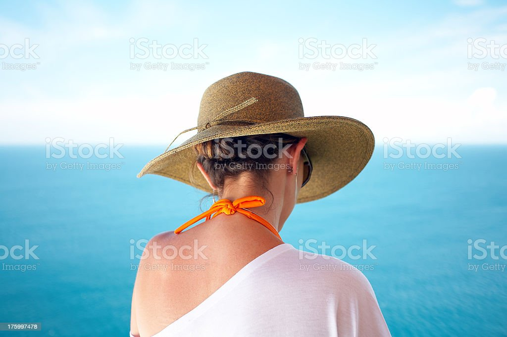 Contemplating the Ocean royalty-free stock photo