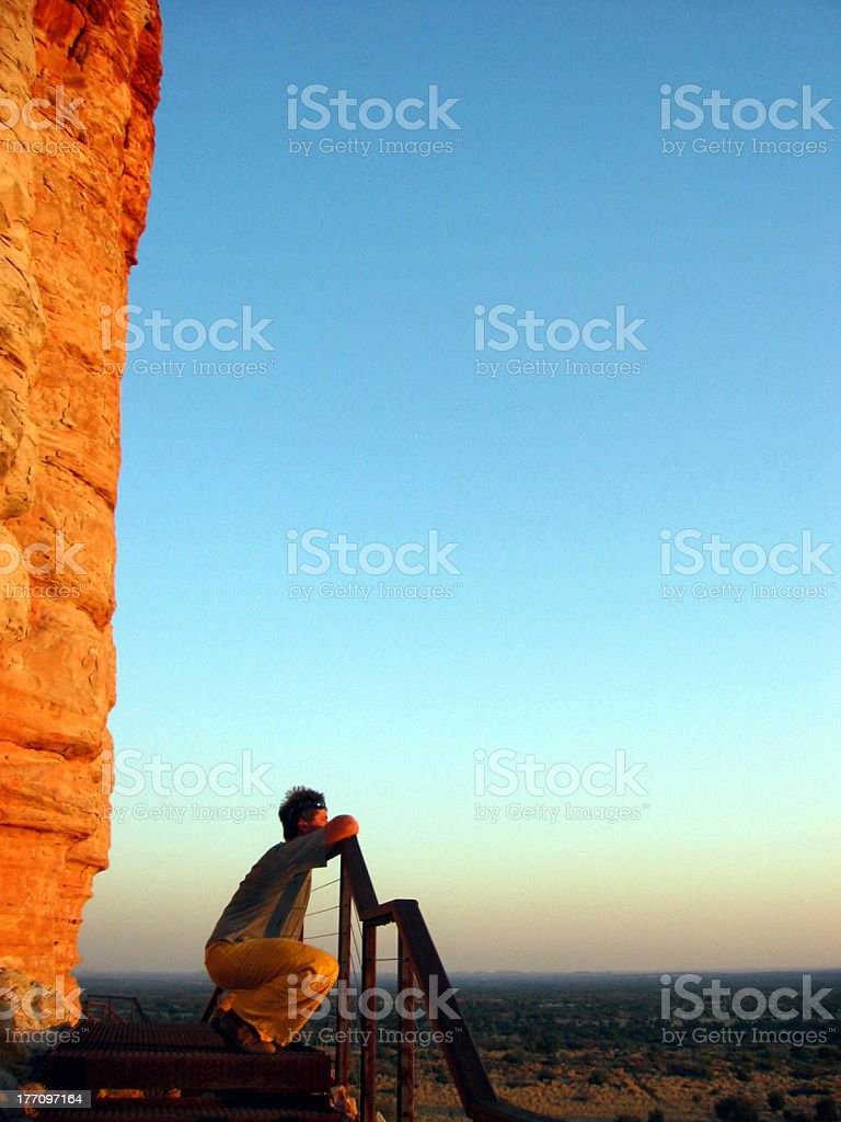 Contemplating The Outback View royalty-free stock photo