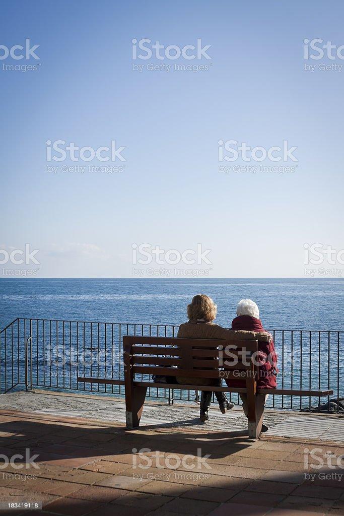 Contemplating the sea stock photo