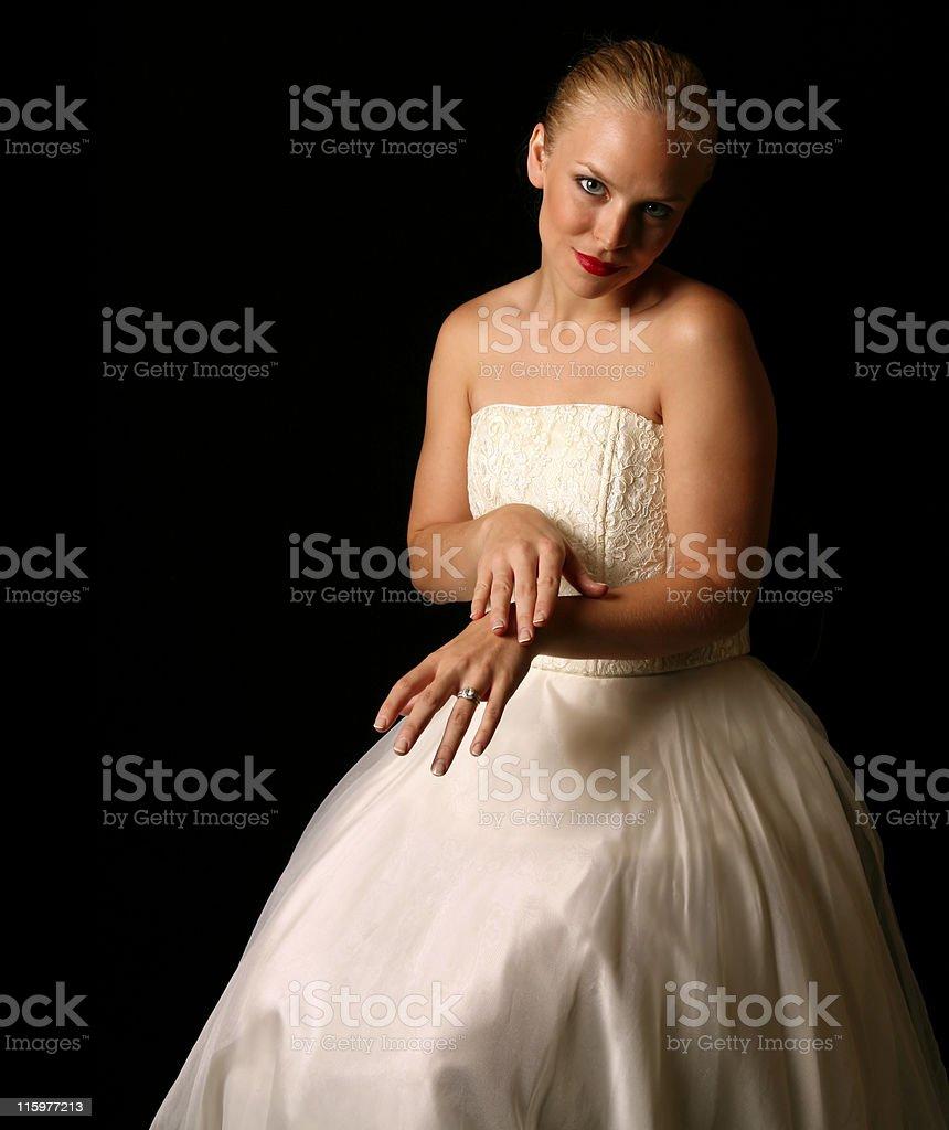 Contemplation of a Bride stock photo