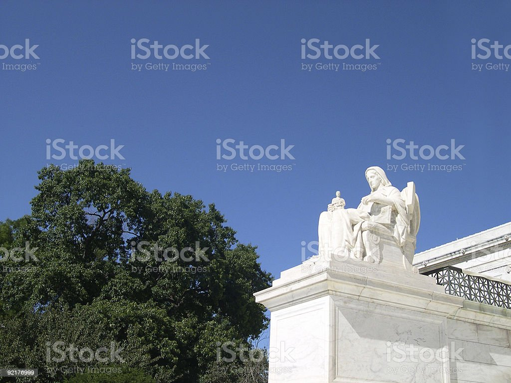 Contemplation of Justice stock photo
