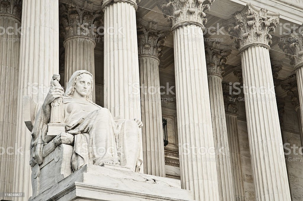 Contemplation of Justice Statue stock photo