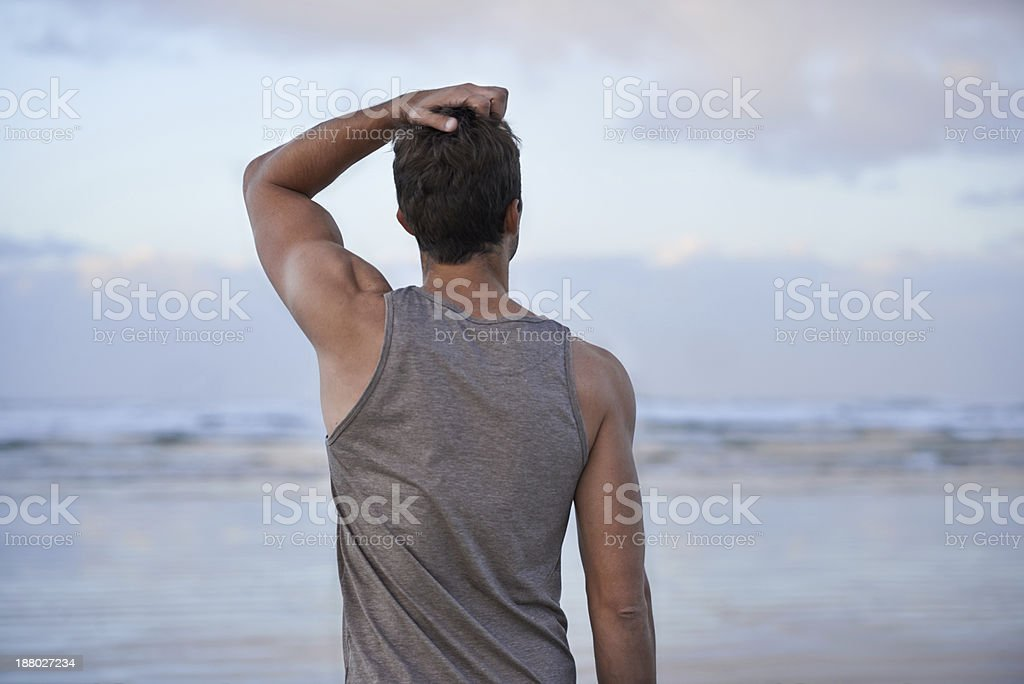 Contemplation on a beautiful morning stock photo