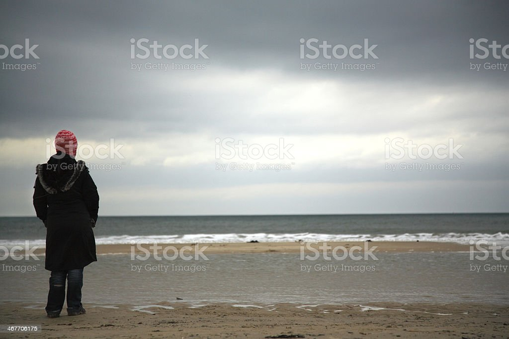 Contemplation stock photo