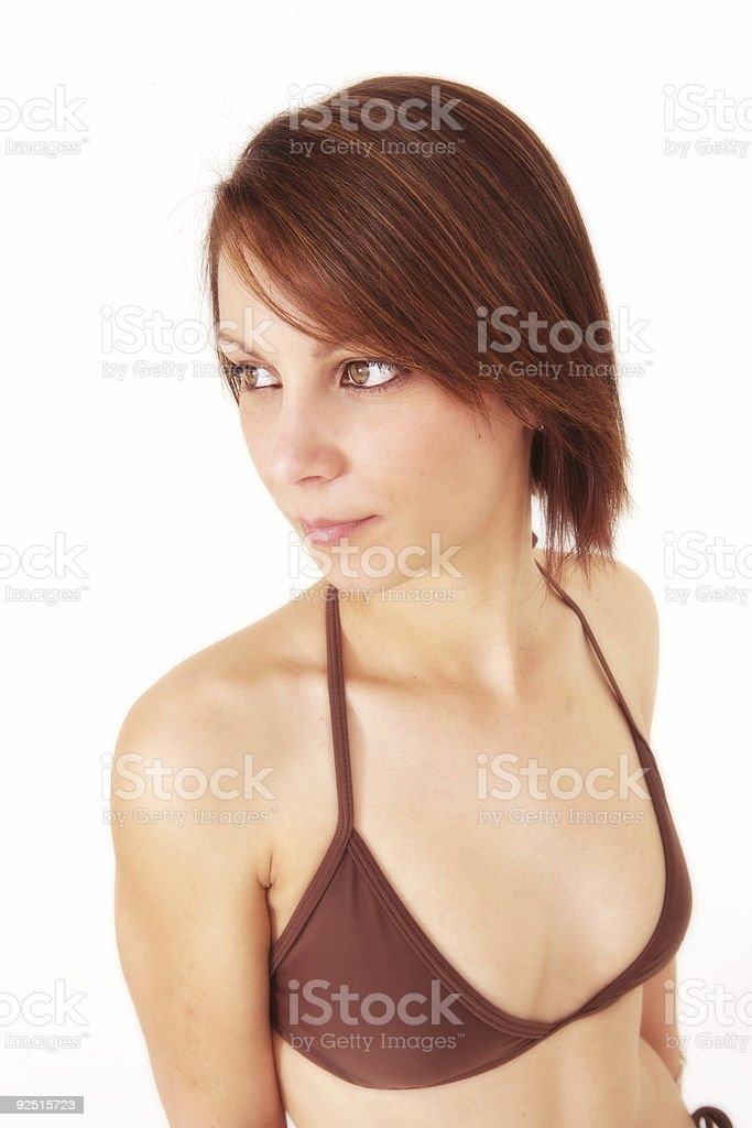 Contemplative Bikini royalty-free stock photo