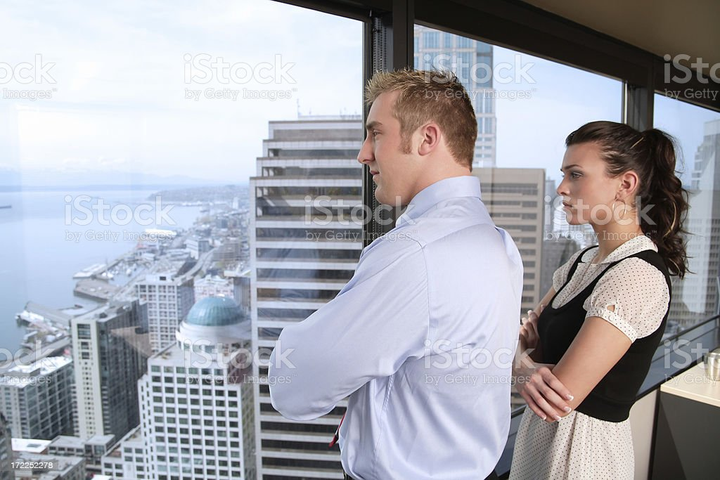 Contemplative Business Duo royalty-free stock photo