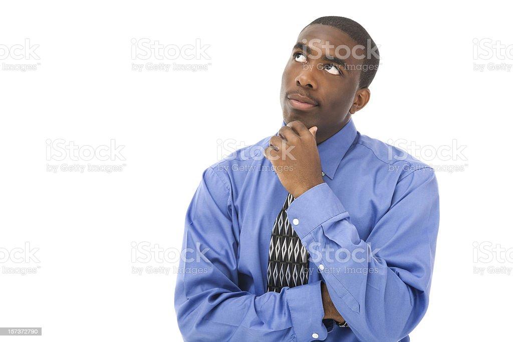 Contemplative Businessman royalty-free stock photo