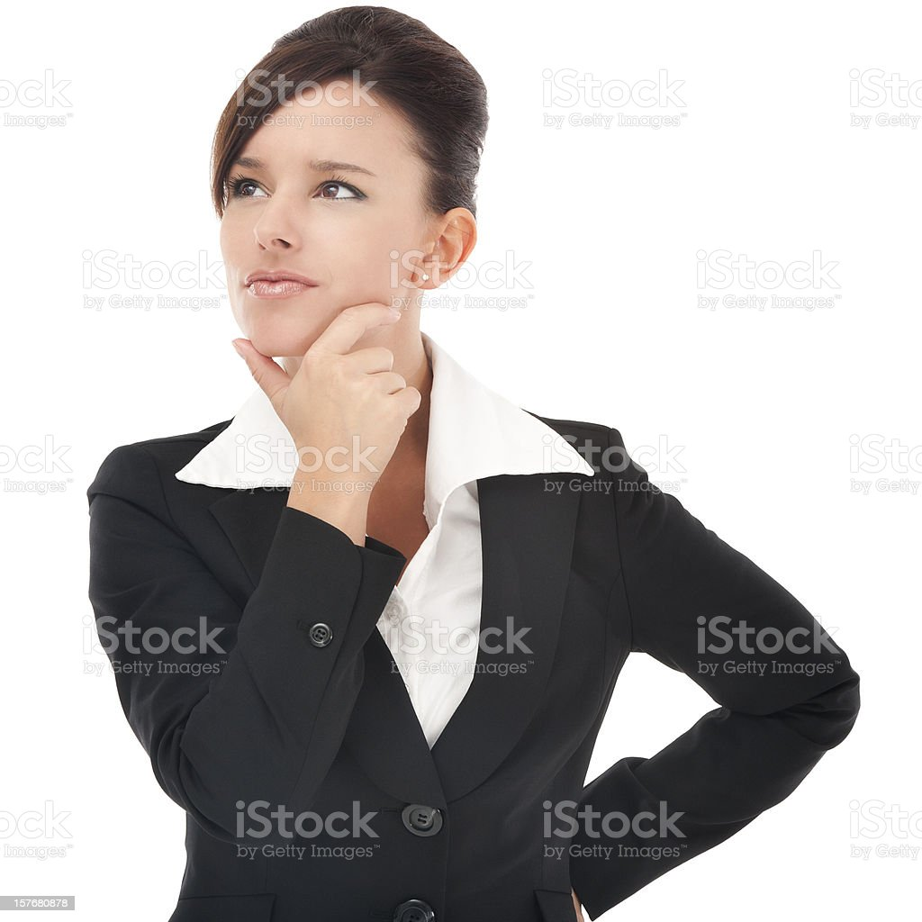 Contemplative Businesswoman stock photo